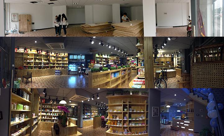 香港�Yu店施工前后�Ρ�